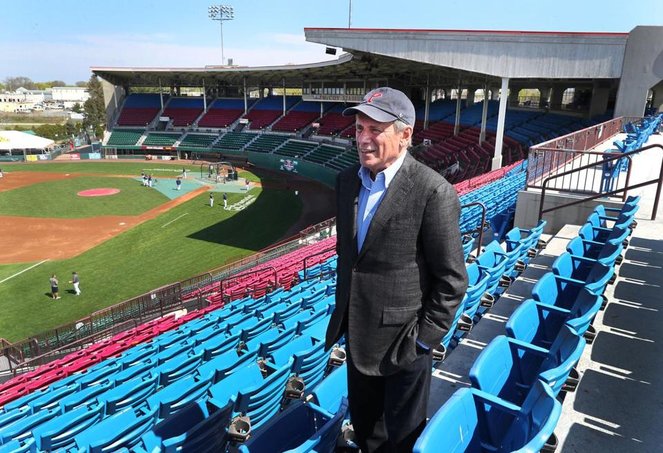 Larry Lucchino at McCoy Stadium in 2017.